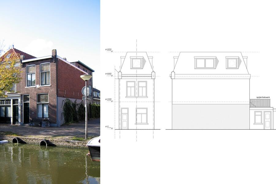 dakopbouw Buitenwatersloot Delft, KREUK architectuur Delft