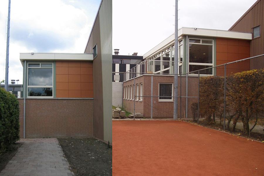 tennis club delftse hout Delt clubgebouw nieuwbouw, aanbouw, KREUK architectuur, architect Marjolein Kreuk