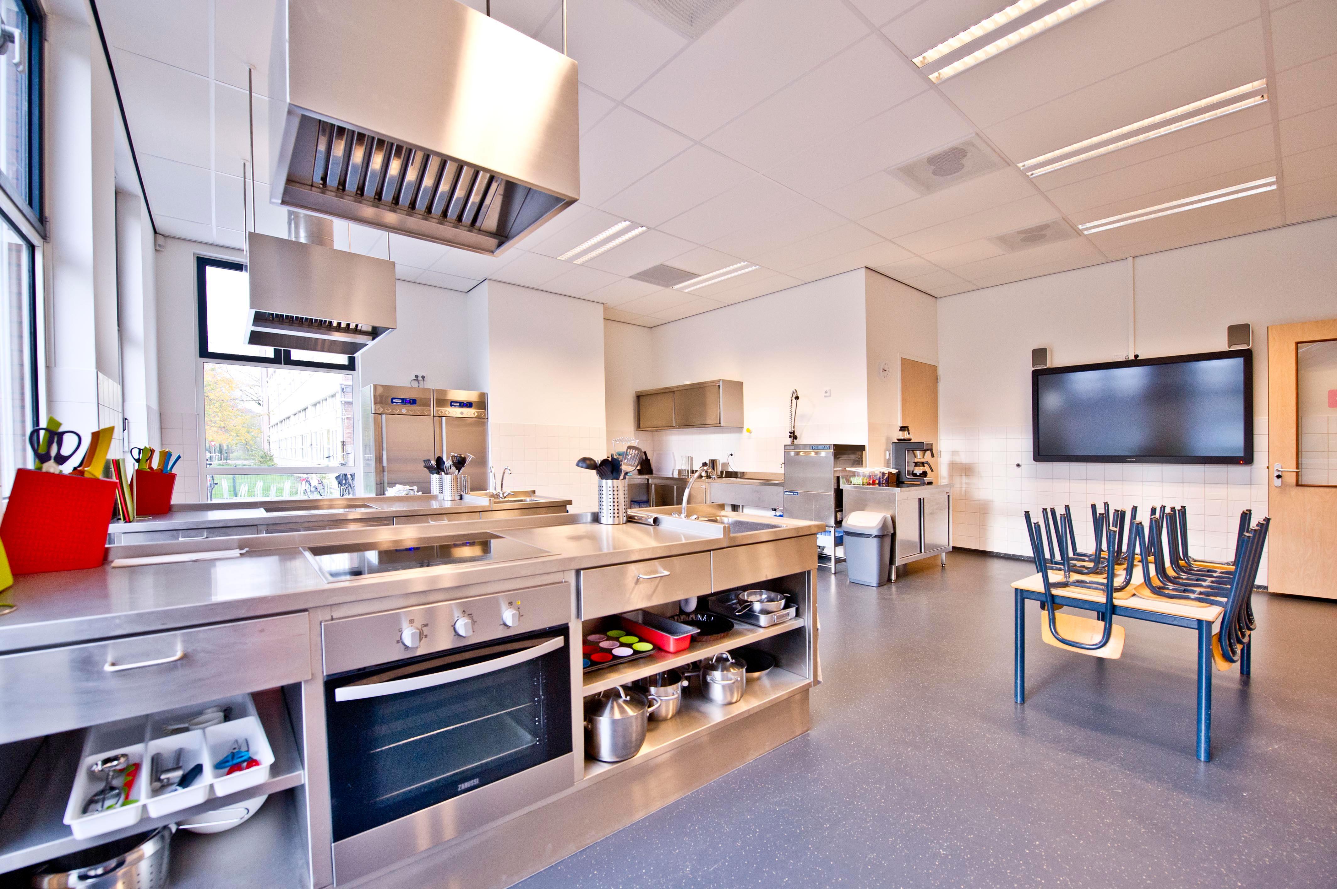 keuken lokaal nieuwbouw school KREUK architectuur