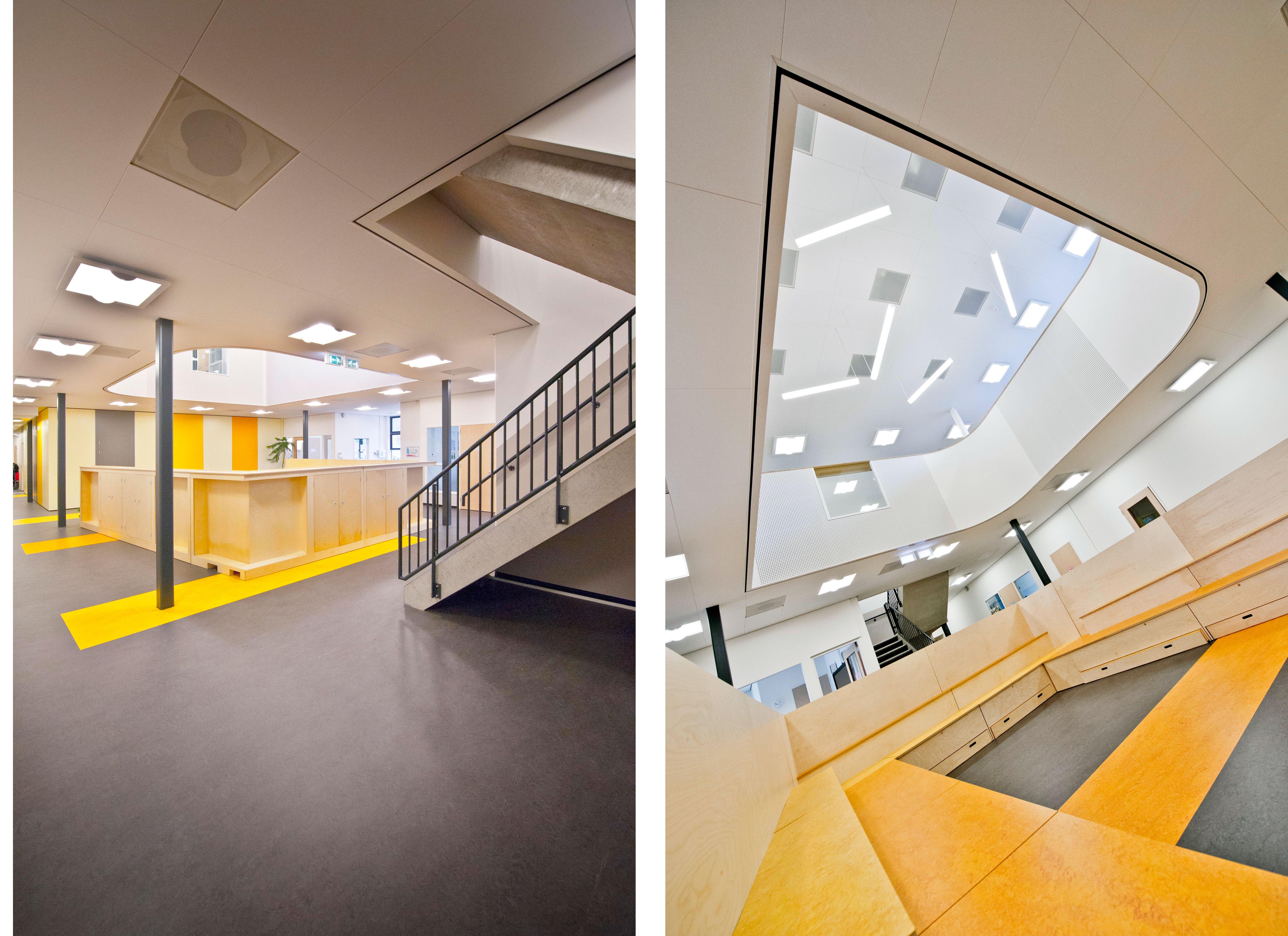 aula met vide nieuwbouw school KREUK architectuur