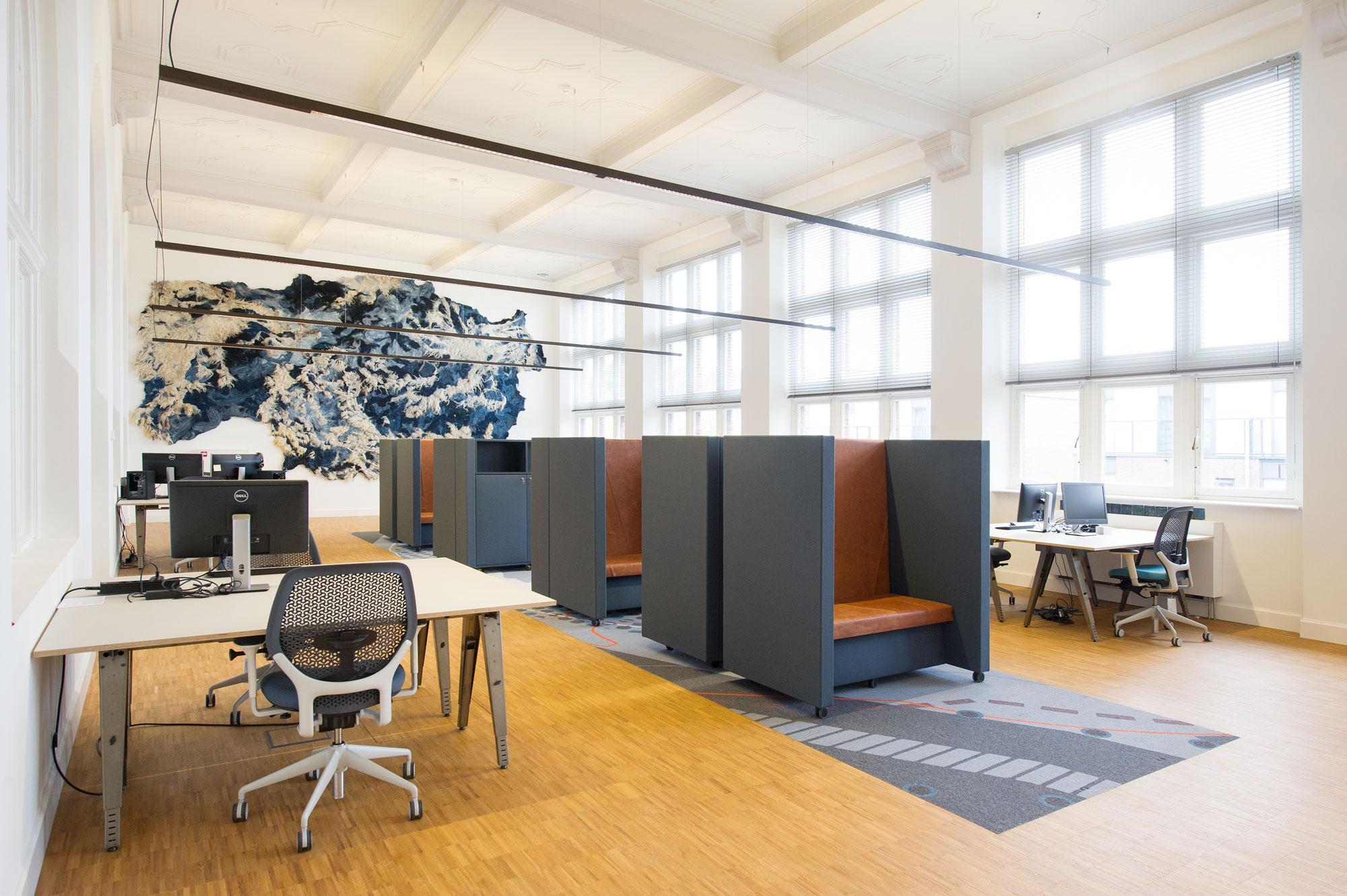 kantoren de oude bibliotheek, KREUK architectuur, architect Marjolein Kreuk Delft i.s.m. BK. en Stephanie Gieles